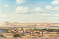 Texas:Early Texas Art - Regionalists, J.W. THRASHER (American, b. 1940). Landscape with Antelope.Oil on canvas. 24 x 36 inches (61.0 x 91.4 cm). Signed lower...