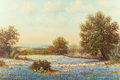 Paintings, WILLIAM ROBERT THRASHER (American, 1908-1997). Bluebonnet Landscape. Oil on canvas. 24 x 36 inches (61.0 x 91.4 cm). Sig...
