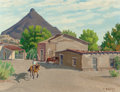 Texas:Early Texas Art - Regionalists, FRED DARGE (American, 1900-1978). Siesta, Shafter, Texas.Oil on artists' board. 9 x 12 inches (22.9 x 30.5 cm). Signed ...