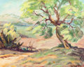 Texas:Early Texas Art - Regionalists, LOIS HOGUE SHAW (American, 1897-2001). West Texas Mesquite.Oil on board. 15-5/8 x 19-5/8 inches (39.7 x 49.8 cm). Signe...