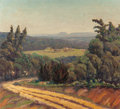 Texas:Early Texas Art - Regionalists, FLORENCE ELLIOTT MCCLUNG (American, 1894-1992). Untitled(Panoramic View). Oil on canvas. 18 x 20 inches (45.7 x 50.8cm...