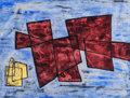 Texas:Early Texas Art - Modernists, KATHLEEN BLACKSHEAR (American, 1897-1988). Color Abstract.Hand-colored woodblock print. 13-3/4 x 12-5/8 inches (34.9 x ...