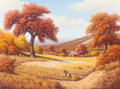 Texas:Early Texas Art - Regionalists, DON WARREN (American, 1935-2006). Golden Autumn. Oil oncanvas. 30 x 40 inches (76.2 x 101.6 cm). Signed lower left:D...
