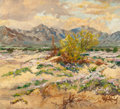 Texas:Early Texas Art - Regionalists, SETH FLOYD CREWS (American, 1873-1958). Desert Mountains,1933. Oil on canvas board. 20 x 22 inches (50.8 x 55.9 cm). Si...