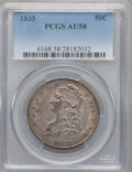Bust Half Dollars: , 1835 50C AU58 PCGS. PCGS Population (113/146). NGC Census:(190/212). Mintage: 5,352,006. Numismedia Wsl. Price for problem...