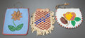 American Indian Art:Beadwork and Quillwork, THREE PLAINS/PLATEAU BEADED HIDE POUCHES... (Total: 3 Items)