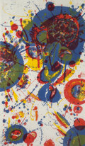 Prints:Contemporary, SAM FRANCIS (American, 1923-1994). Tokyo mon amour, 1963.Lithograph in color. 31-1/2 x 18-1/2 inches (80.0 x 47.0 cm). ...