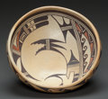American Indian Art:Pottery, A HOPI POLYCHROME BOWL. c. 1940...