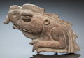 Pre-Columbian:Ceramics, A FRAGMENT OF AN IGUANA FIGURE. c. 600 - 900 AD. ...