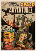 Golden Age (1938-1955):Science Fiction, Space Adventures #10 (Charlton, 1954) Condition: VG....