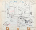 Animation Art:Production Drawing, Mickey's Trailer Mickey Mouse and Interior ProductionDrawings (Walt Disney, 1938).... (Total: 2 Illustration Art)