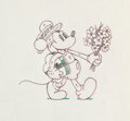 Animation Art:Production Drawing, Puppy Love Mickey Mouse Production Drawing (Walt Disney, 1933)....