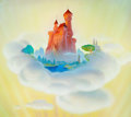 Animation Art:Production Drawing, Fun and Fancy Free Pink Castle Concept Painting by Art Riley(Walt Disney, 1947)....