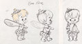 animation art:Model Sheet, The Flintstones Bamm Bamm Model Sheet (Hanna-Barbera,1963)....