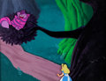 Animation Art:Production Cel, Alice in Wonderland Educational Film Alice and Cheshire CatProduction Cel Set-Up and Background (Walt Disney, c. 1960...