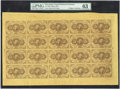 Fractional Currency:First Issue, Fr. 1230 5¢ First Issue Complete Sheet of 20 PMG ChoiceUncirculated 63....