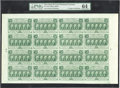 Fractional Currency:First Issue, Fr. 1312 50¢ First Issue Complete Sheet of 16 PMG ChoiceUncirculated 64....