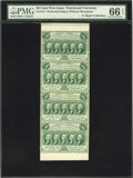 Fractional Currency:First Issue, Fr. 1311 50¢ First Issue Vertical Strip of Four PMG GemUncirculated 66 EPQ....