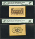 Fractional Currency:First Issue, Fr. 1282SP 25¢ First Issue Wide Margin Pair PMG Superb Gem Unc 67 EPQ....