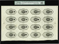 Fractional Currency:First Issue, Fr. 1313 Milton 1E.50R.3 50c First Issue Uncut Sheet of SixteenBacks PMG Choice Very Fine 35 EPQ....