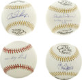Autographs:Baseballs, Baseball Stars Single Signed Baseballs Lot of 4. Excellent quartetof singles comes to us by way of a group of former stars...