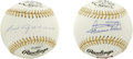 Autographs:Baseballs, Luis Aparicio and Minnie Minoso Single Signed Baseballs Lot of 2.Each of the Gold Glove winners that we see here has appl...