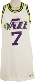 Basketball Collectibles:Uniforms, Late 1970's Pete Maravich Game Worn Jersey. Remembering muchhappier days in the Big Easy is this outstanding gamer from the...