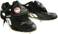 """Baseball Collectibles:Others, Early 1990's Roger Clemens Game Worn Spikes. Black """"Reebok"""" spikesserved as Rocket boosters at some point between 1991, wh..."""