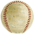 Autographs:Baseballs, 1956 Pittsburgh Pirates Team Signed Baseball with Two Clemente Signatures. The first Latin Hall of Famer celebrates his sop...