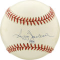 "Autographs:Baseballs, Reggie Jackson Single Signed Baseball. Nicknamed 'Mr. October"" forhis clutch hitting during the post season, Reggie Jackso..."