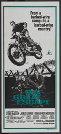 "Movie Posters:War, The Great Escape (United Artists, R-1970s). Australian Daybill (13""X 30""). War. ..."