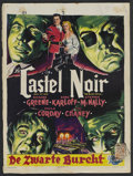 "Movie Posters:Mystery, The Black Castle (Universal International, 1952). Belgian (14"" X18.75""). Mystery. ..."