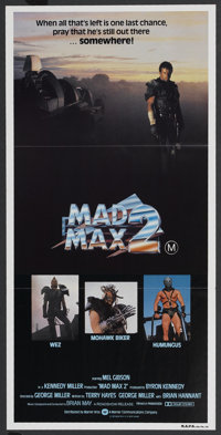"Mad Max 2 (Warner Brothers, 1981). Australian Daybill (13"" X 27""). Science Fiction"