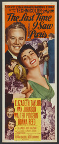 "Movie Posters:Romance, The Last Time I Saw Paris (MGM, 1954). Insert (14"" X 36""). Romance...."