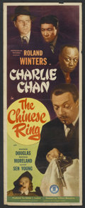 """Movie Posters:Mystery, The Chinese Ring (Monogram, 1947). Insert (14"""" X 36""""). Mystery...."""