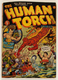 Golden Age (1938-1955):Superhero, The Human Torch #7 (Timely, 1942) Condition: GD+....