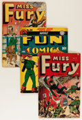 Golden Age (1938-1955):Miscellaneous, Golden Age Miscellaneous Comics Group (Various Publishers, 1940s-50s) Condition: Average FR.... (Total: 3 Comic Books)