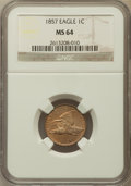 Flying Eagle Cents, 1857 1C MS64 NGC....