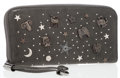 Luxury Accessories:Accessories, Jimmy Choo Gray Leather Zodiac Signs Zip-Around Continental Wallet. ...
