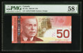 Canadian Currency: , BC-65a $50 2004 (2006) Hologram Split. ...