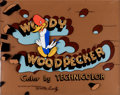 Animation Art:Production Cel, Woody Woodpecker Opening Titles Cel Set-Up Signed by WalterLantz (Walter Lantz, 1940s)....