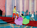 Animation Art:Production Cel, Cinderella Prince and the Stepsisters Production Cels Set-Up (Walt Disney, 1950)....