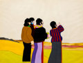 Animation Art:Production Cel, Beatles Yellow Submarine Beatles Production Cel Set-Up andMaster Background (United Artists/King Features, 1968)....