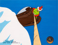 Animation Art:Production Cel, Dr. Seuss' How the Grinch Stole Christmas Grinch ProductionCel Signed by Chuck Jones (Warner Brothers, 1966).... (Total: 2 )