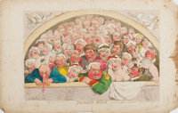[Color-Plate]. Thomas Rowlandson. Pigeon Hole. London: Tegg [1811]. Hand-colored etched plate. Approximately 10 x 13