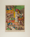 Art:Illustration Art - Mainstream, [Color-Plate]. Thomas Rowlandson. John Bull at the Italian Opera.London: 1811. Hand-colored etched plate. Approximately 10 ...
