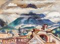 Texas:Early Texas Art - Drawings & Prints, LLOYD LOZES GOFF (American, 1918-1982). Jardin de la Revolution,Guanajuato, Mexico, 1954. Watercolor and gouache on pap...