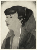 Texas:Early Texas Art - Drawings & Prints, BLANCHE MCVEIGH (American, 1895-1970). Head (Flora Reeder).aquatint. 15-3/4 x 11-1/2 inches (40.0 x 29.2 cm). Ed. 50. S...