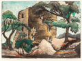 Prints, BLANCHE MCVEIGH (American, 1895-1970). On the Paluxy. color aquatint. 9-1/2 x 12-3/4 inches (24.1 x 32.4 cm). Ed. 50...