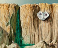 Texas:Early Texas Art - Modernists, PERRY NICHOLS (American, 1911-1992). Cliff Side with OysterShell, 1967. Oil on masonite. 19-1/2 x 24 inches (49.5 x 61....